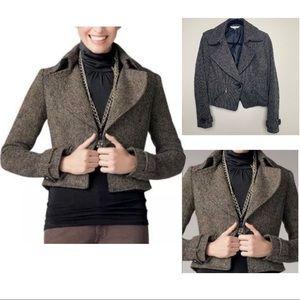 CAbi Tweed Crop Moto Jacket / Blazer